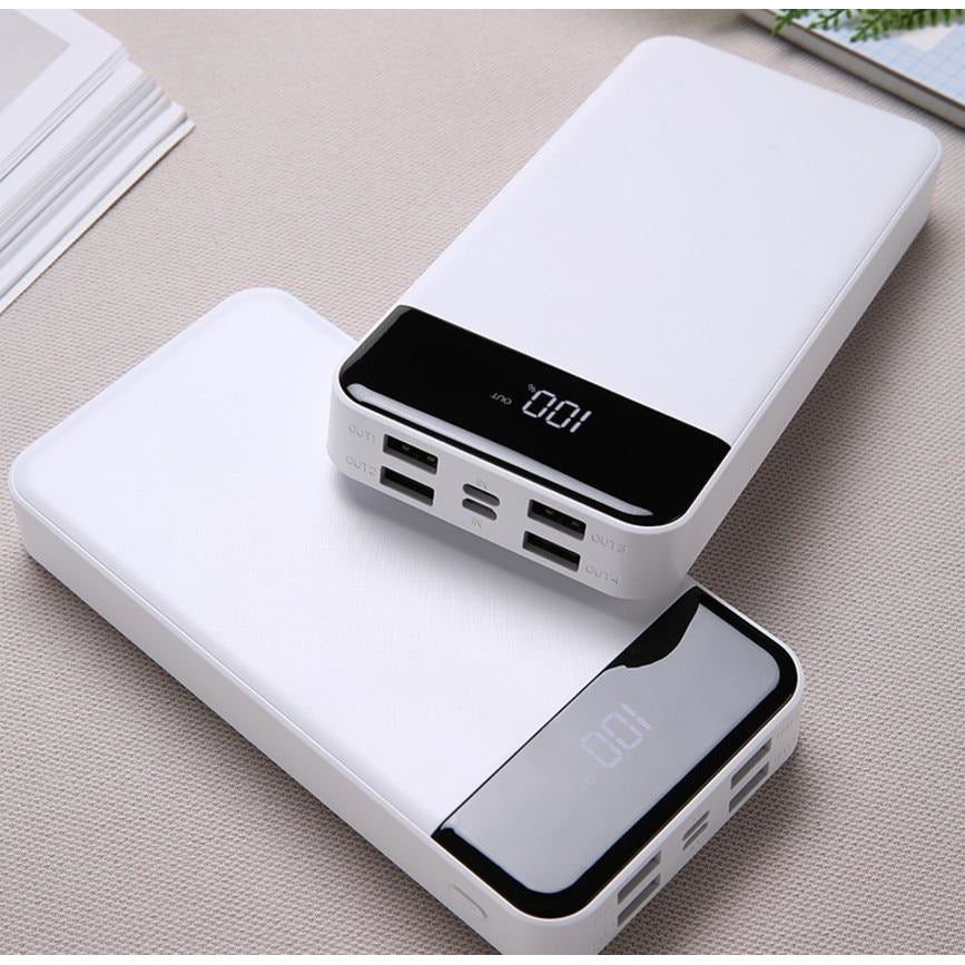 30000mAh power bank 4USB mobile power LCD - MS Unique