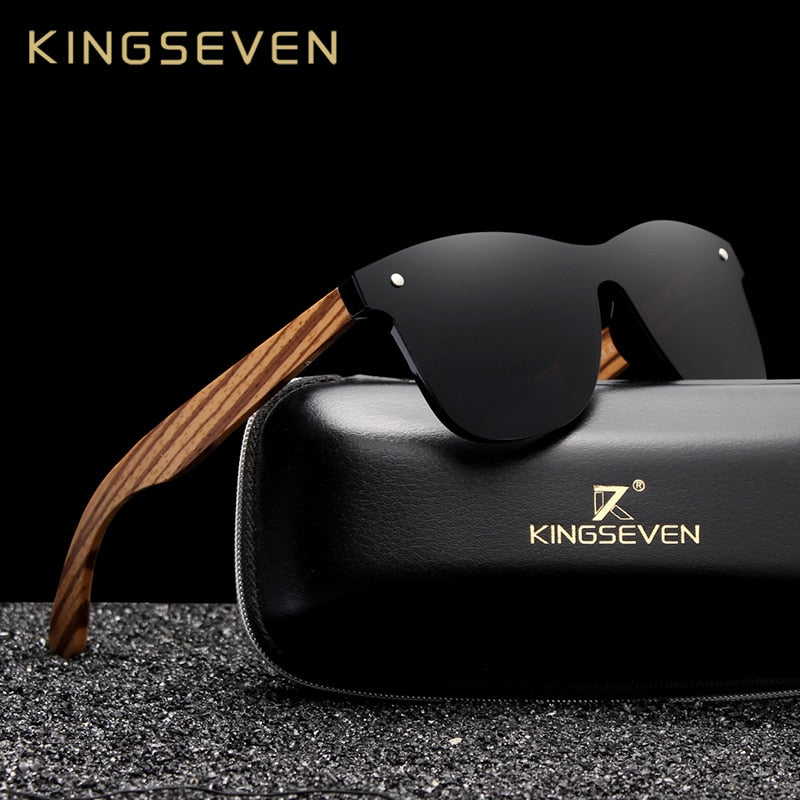KINGSEVEN 2019 Polarized Square Sunglasses Men Women Zebra - MS Unique