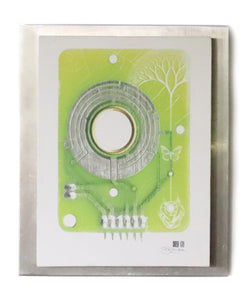 Earth Circuit Mounted Canvas - 1 Only - Deya Dova