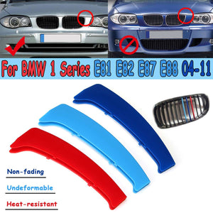 M Color Front Grille Grill Cover Clip Trim For BMW 1 Series E81 E82 E87 E88 2004-2011