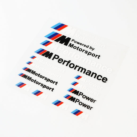 ///M Performance Power Motorsport Decals Kit For BMW