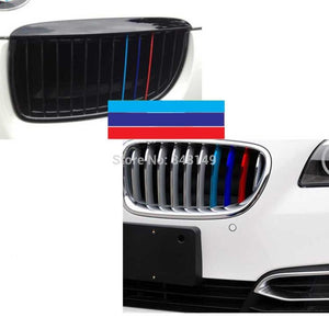 ///M Sports Stickers Front Grille For BMW X1 X3 X5 X6 3series 5 Series 7 Series E39 E36