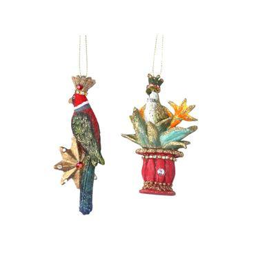 Gisela Graham Resin Parrot On Star/Pot