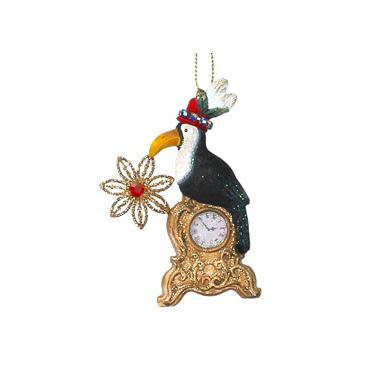 Gisela Graham Resin Toucan On Clock