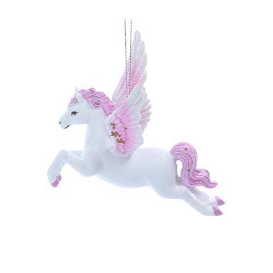 Gisela Graham Pink/White Resin Flying Pegasus