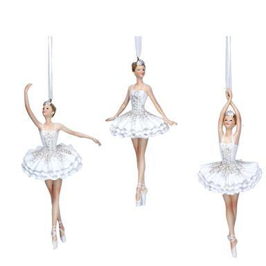 Gisela Graham White Resin Dress Ballerina
