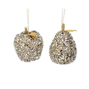 Gisela Graham Pale Gold Sequin Apple/Pear