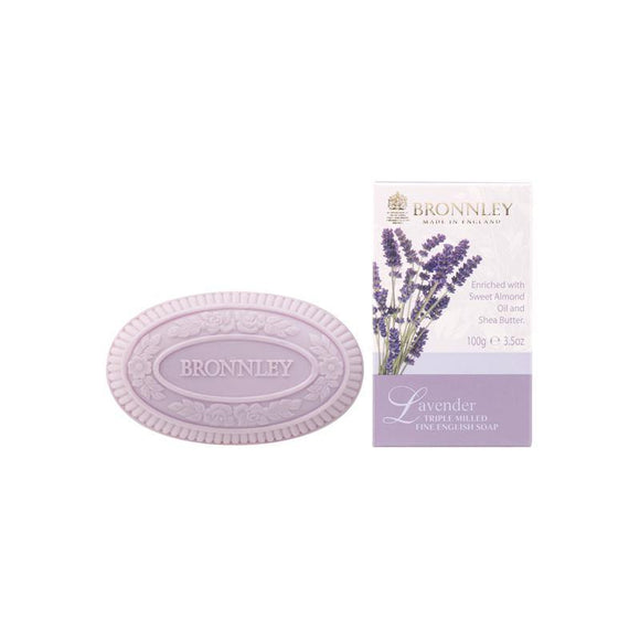 Bronnley Lavender Triple Milled Soap (Single) - British Bespoke | Shop Bronnley Online - South Africa