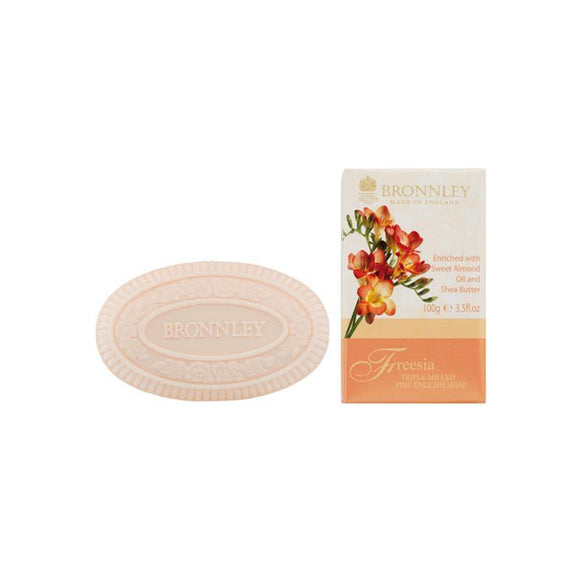 Bronnley Freesia Triple Milled Soap (Single) - British Bespoke | Shop Bronnley Online - South Africa
