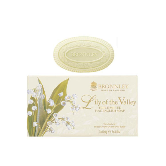 Bronnley Lily Of The Valley Soap Set of 3 - 3x100g
