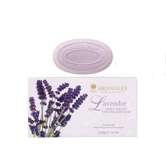 Bronnley Lavender Soap Set Of 3 - British Bespoke | Shop Online - South Africa