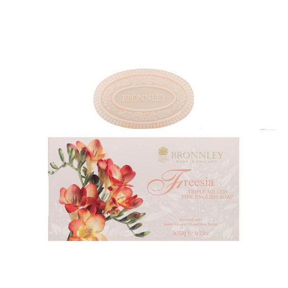 Bronnley Freesia Triple Milled Soap Set of 3 - British Bespoke | Shop Bronnley Online - South Africa