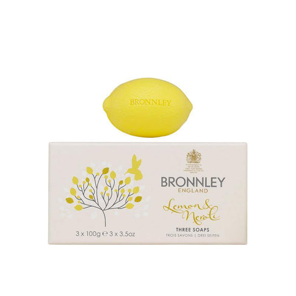 Bronnley Lemon & Neroli Soap Set of 3 - 3x100g
