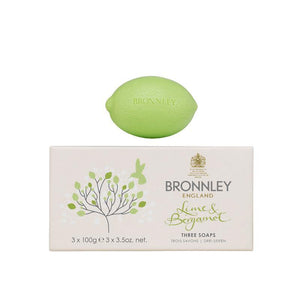 Bronnley Lime & Bergamot Soap Set of 3 - 3x100g