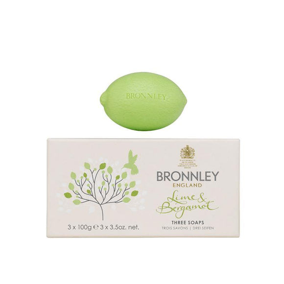 Bronnley Lime & Bergamot Soap Set of 3 - British Bespoke | Shop Online - South Africa