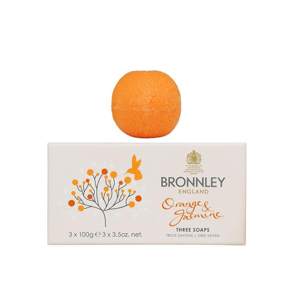 Bronnley Orange & Jasmine Soap Set of 3