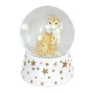 Gisela Graham Fantasy Animals Leopard Music Dome 14cm x 9cm