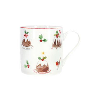 Gisela Graham Plum Pudding Bone China Mug
