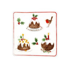 Gisela Graham Plum Pudding Bone China Coaster