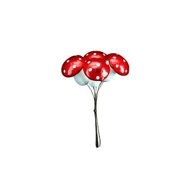 Gisela Graham Toadstool Bunch 14cm