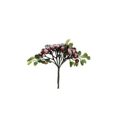 Gisela Graham Snowy Red Berry/Leaf 29cm