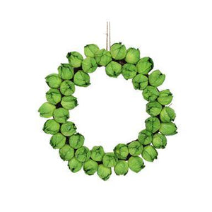 Gisela Graham Green Paper/Twig Sprout Wreath 31cm x 26cm