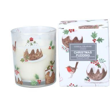 Gisela Graham 'Plum Pudding' Boxed Candle small