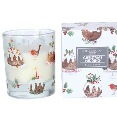 Gisela Graham 'Plum Pudding' Boxed Candle Large