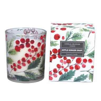 Gisela Graham Red Berry Boxed Candle Pot, Small