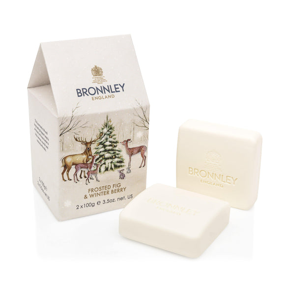 Bronnley Frosted Fig & Winter Berry Duo Soap