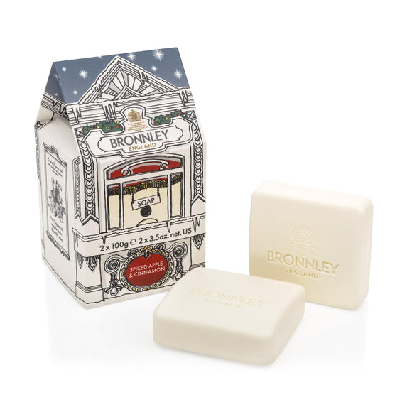 Bronnley Spiced Apple & Cinnamon Duo Soap - British Bespoke | Shop Online - South Africa