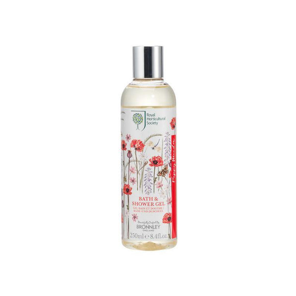 Bronnley RHS Poppy Meadow Bath & Shower Gel