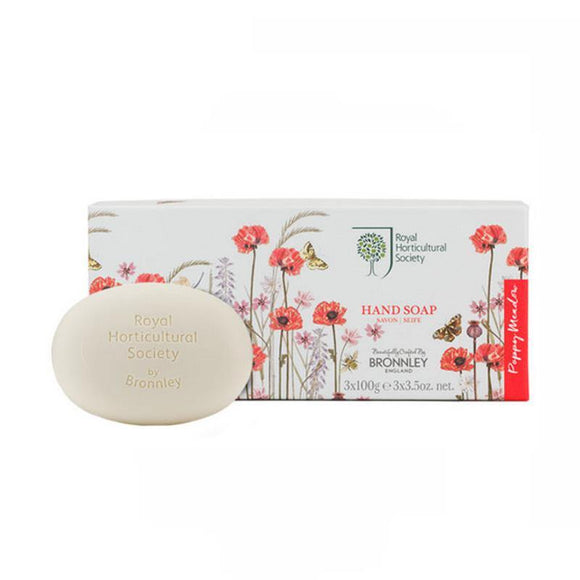 Bronnley RHS Poppy Meadow Soap Collection