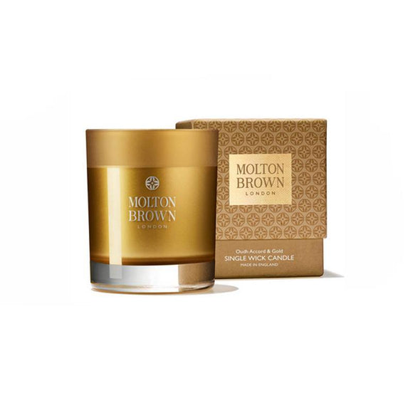 Molton Brown Oudh Accord & Gold Single Wick Candle - British Bespoke | Shop Molton Brown Online - South Africa