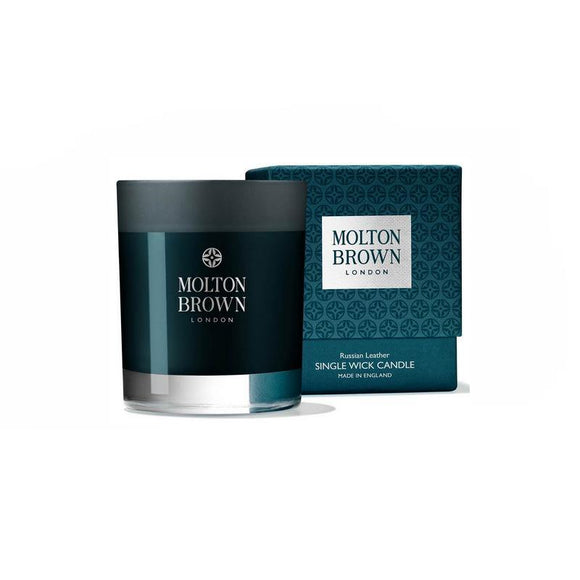 Molton Brown Russian Leather Single Wick Candle - British Bespoke | Shop Molton Brown Online - South Africa