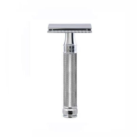 Edwin Jagger Chrome Knurled Double Edge Razor