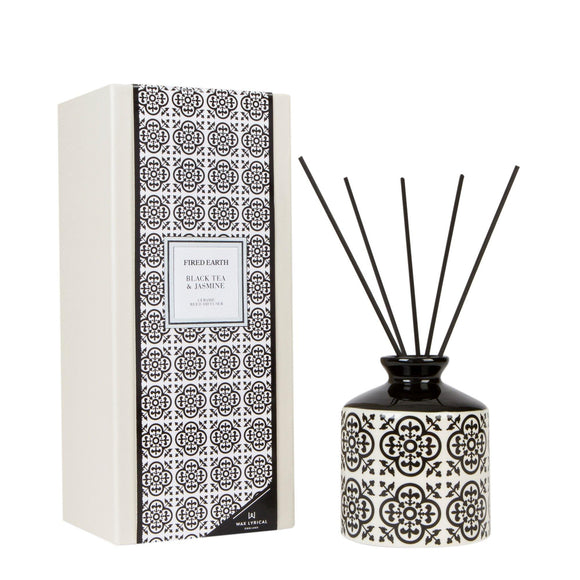 Wax Lyrical Black Tea & Jasmine Ceramic Reed Diffuser - British Bespoke | Shop Online - South Africa