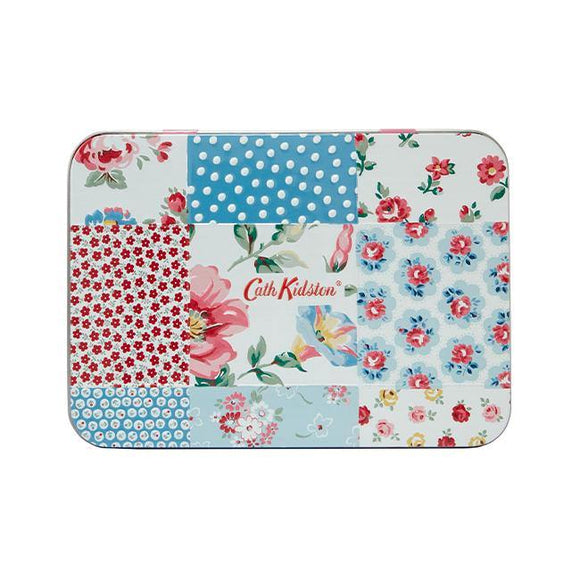 Cath Kidston Cottage Patchwork Hand & Lip Tin with Hand Cream and Lip Balm