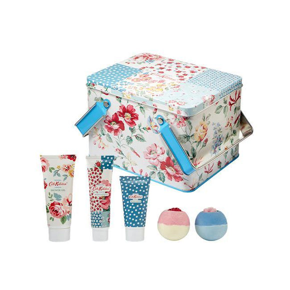 Cath Kidston Cottage Patchwork Pamper Picnic Tin Bath & Body Set - British Bespoke | Shop Online - South Africa