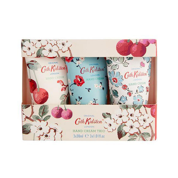Cath Kidston Mini Cherry Sprig Hand Cream Trio - British Bespoke | Shop Online - South Africa