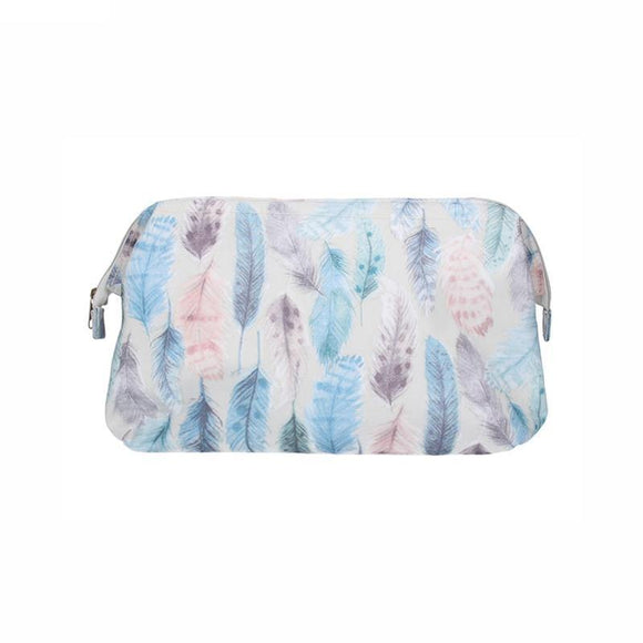 Gisela Graham Feathers Frame Washbag/ Toiletry Bag