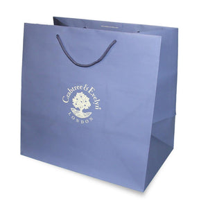 Big blue Crabtree & Evelyn gift bag