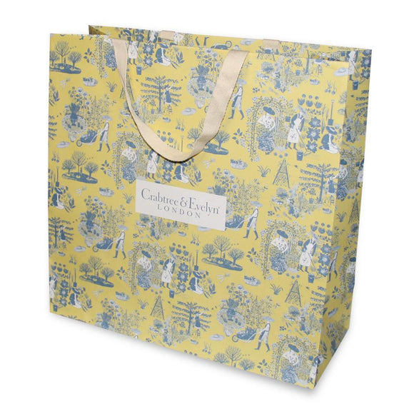 Big yellow Crabtree & Evelyn gift bag