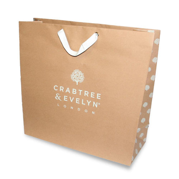 Big brown Crabtree & Evelyn gift bag