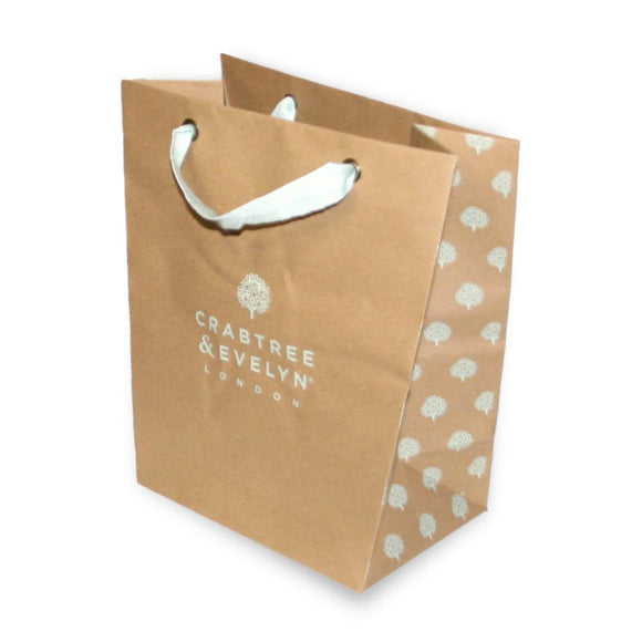 Small brown Crabtree & Evelyn gift bag