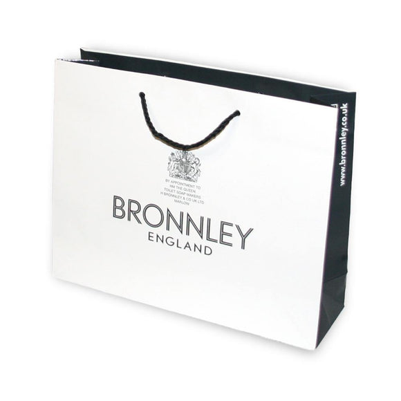 Small black and white Bronnley gift bag
