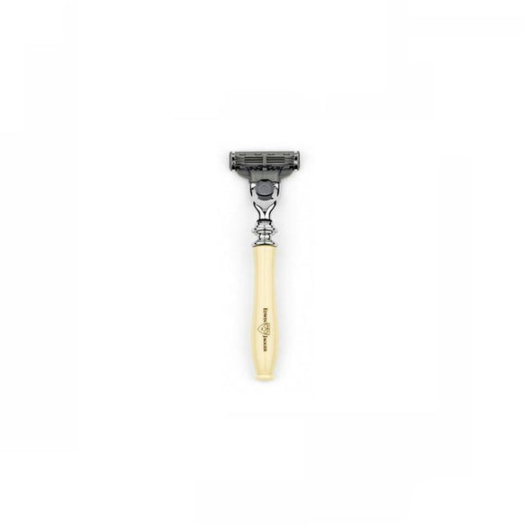 Edwin Jagger Chatsworth Imitation Ivory Razor (Mach 3) - British Bespoke | Shop Online - South Africa