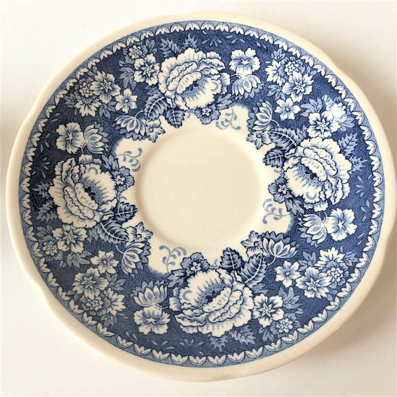 Crabtree & Evelyn Mason's Ironstone Blue & White Saucer - British Bespoke | Shop Online - South Africa