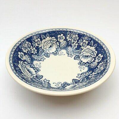 Crabtree & Evelyn Mason's Ironstone Blue & White Cereal Bowl