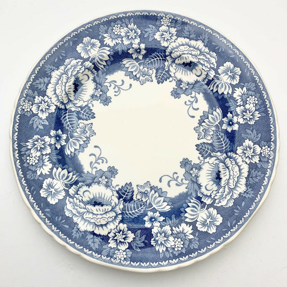 Crabtree & Evelyn Mason's Ironstone Blue & White Dinner Plate